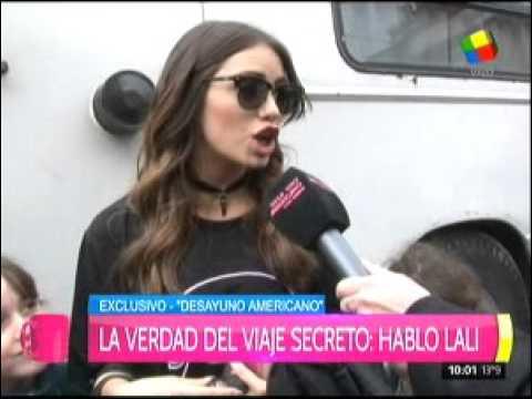 Le preguntaron a Lali por el primer viaje de amor con Mariano Martínez y ella respondió