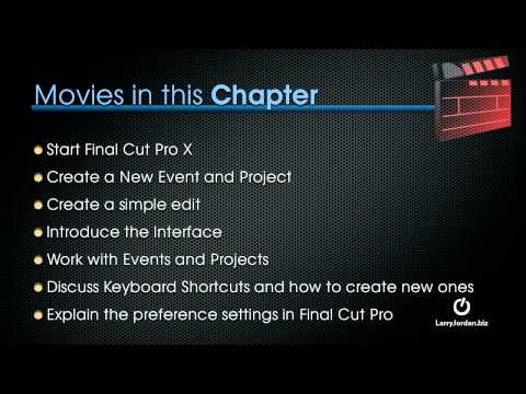 Getting Started with Final Cut Pro X - Larry Jordan (preview)