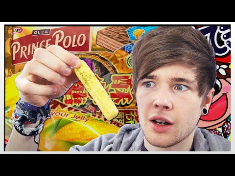 TRYING FOOD FROM AROUND THE WORLD!!