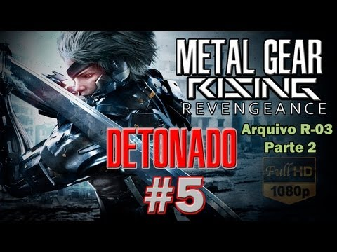 Metal Gear Rising: Revengeance Detonado Parte 5 Arquivo R-03 Nas Alturas 2/2 FullHD PT-BR
