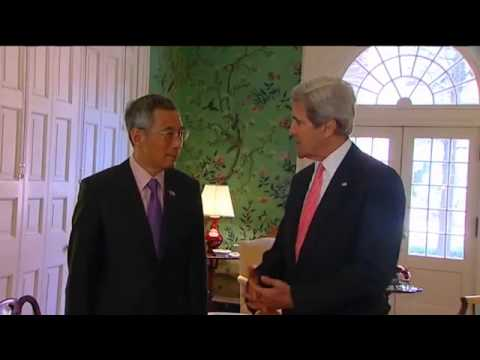 Secretary Kerry Delivers Remarks With Singapore Prime Minister Lee