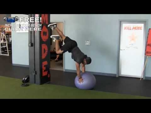 Stability Ball Mountain Climbers With a Press