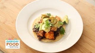 Spicy Sweet Potato and Black Bean Tostadas - Everyday Food with Sarah Carey