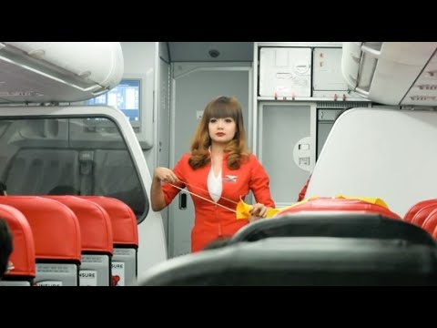 CEBU -Cabin Crew's Safety Demo (AirAsia)