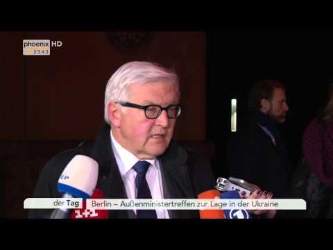 Ukraine-Treffen: Einschätzung von Frank-Walter Steinmeier am 21.01.2015