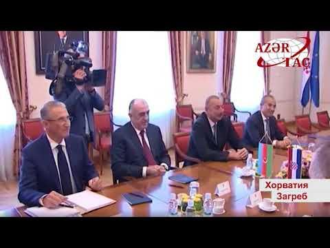 Президент Ильхам Алиев встретился с председателем парламента Хорватии Горданом Яндроковичем