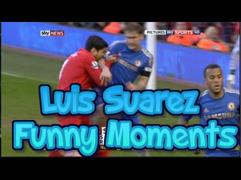 Luis Suarez - crazy, funny, controversial biting moments 2014 (HD)