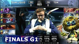 TL vs TSM - Game 1   Finals S9 LCS Spring 2019   Team Liquid vs TSM G1