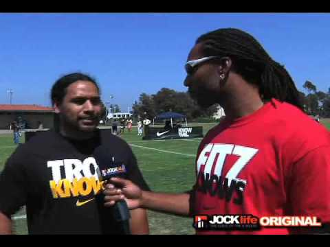 Arizona Cardinals Larry Fitzgerald interviews Steelers Troy Polamalu - Super Bowl XLIII, Madden 2010 Video