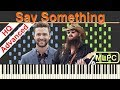 Justin Timberlake Feat. Chris Stapleton   Say Something I Piano Tutorial & Sheets By MLPC