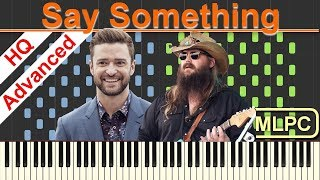 Download Lagu Justin Timberlake feat. Chris Stapleton - Say Something I Piano Tutorial & Sheets by MLPC Gratis STAFABAND
