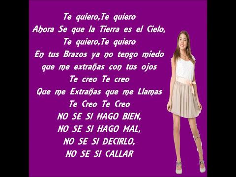 Te Creo Violetta (Letra)