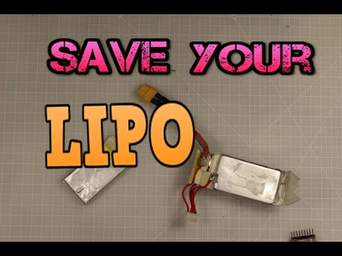 How to salvage/save your damaged LiPo Battery