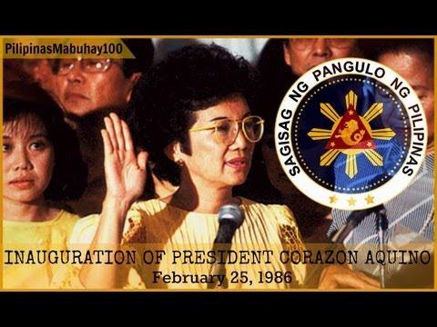 President CORAZON AQUINO: Inauguration as President of the Philippines | February 25, 1986
