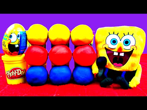 Spongebob Play-Doh Surprise Eggs Cars 2 Hello Kitty Disney Princess Toy Story Angry Birds FluffyJet