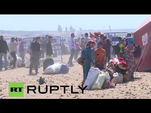 Live From Kobane ayn Al Arab After Explosion At Syrian-turkish Border video