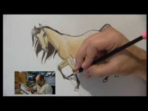 Видео как нарисовать Спирита карандашом поэтапно