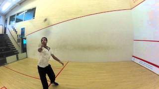 Mohamed El Shorbagy Practising With The New Tecnifibre Carboflex 125