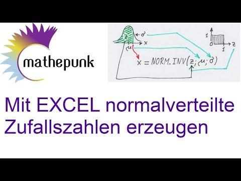Mit EXCEL normalverteilte Zufallszahlen erzeugen