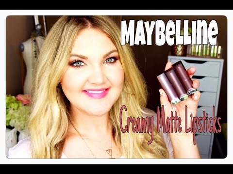 ★MAYBELLINE CREAMY MATTE LIPSTICK | MAC DUPES + LIP SWATCHES★