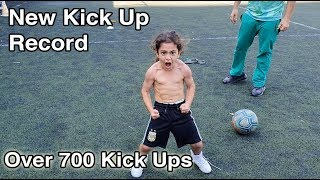 5 Year Old Arat Hosseini Does Over 700 Kick Ups!