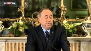 اسكتلندا   استقالة سالموند بعد فشل الاستفتاء