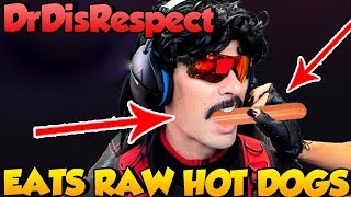 DrDisRespect EATS RAW COLD HOT DOGS - twitch highlights