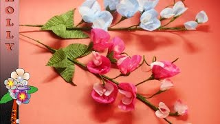 Tissue Paper Fowers Sweet pea