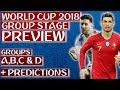 The Ultimate 2018 WORLD CUP PREVIEW Part 1: Groups A - D (Plus Predictions)