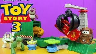 Toy Story 3 Action Links Junkyard Escape Stunt Set Disney Cars Lightning McQueen gets saved by Mater