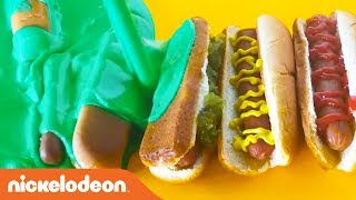 Celebrate National Hot Dog Day 🌭 the Nickelodeon Way… w/ SLIME! | Nick