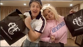 OLD PEOPLE TRY ON ABERCROMBIE & FITCH CLOTHES! | VLOGMAS DAY 5