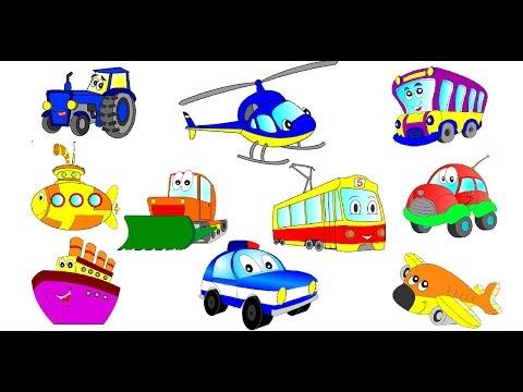 Cartoons about cars. Child development cartoon about cars (part 1)