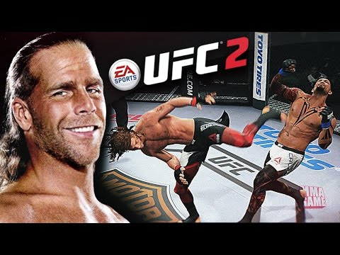 The HBK Shawn Michaels SWEET CHIN MUSIC in EA SPORTS UFC 2 | Ultimate team CAF Gameplay