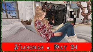 Vlogmas Day 24! Let's Look At My House! (Second Life)