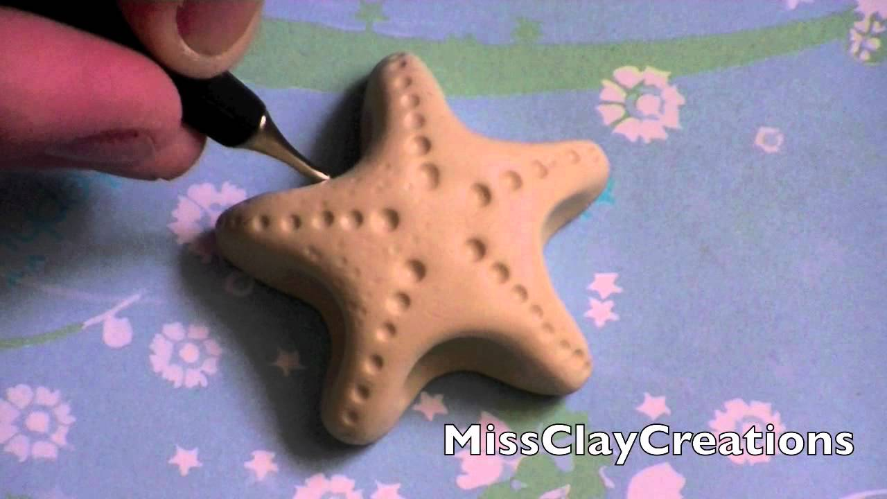 a clay starfish tutorial by missclaycreations youtube
