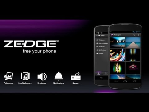 Zedge App For Android App Review (video) (ringtones) (wallpapers) video