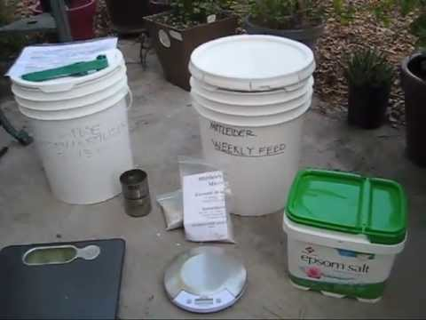 Mittleider Garden: Weekly Feed Fertilizer Recipe. Sustainable Gardening