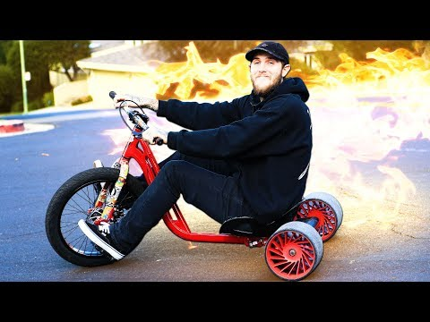 DANGEROUS 40MPH DRIFT TRIKE HILL BOMB?! (COPS CALLED!)
