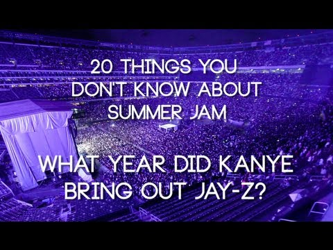 When did Kanye bring out Jay-Z at Summer Jam?