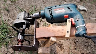 Angle Grinder Hacks,How to Make a Mini garden Tiller. | DIY |