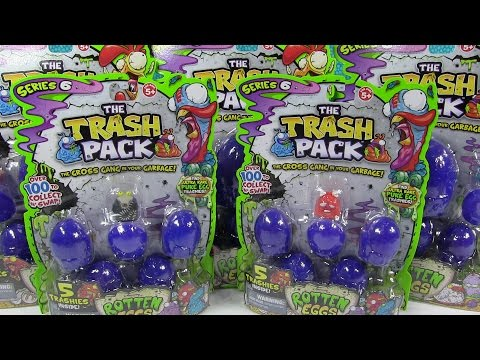 Trash Pack Rotten Eggs Series 6 Opening Unboxing Toy Palooza Review Trashies