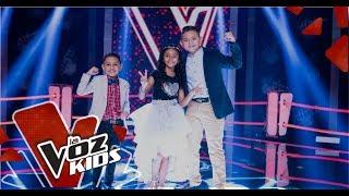 Juan David, Luis Ángel y Ana Sofia cantan en las Súper Batallas   La Voz Kids Colombia 2019