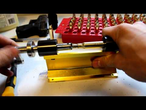 resizing a case 308 for reloading using Forster Trimmer base & Lyman Case Prep / Canon T3i .308
