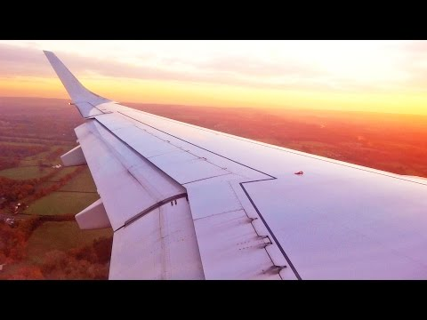 Sunset Landing at London Gatwick Airport Flybe Embraer E195 G-FBEM [1080p HD]