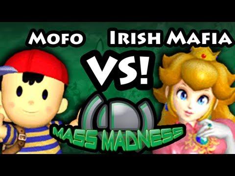 Mass Madness CE - Mofo (Ness) Vs. Irish Mafia (Peach) SSBM - Super Smash Bros. Melee