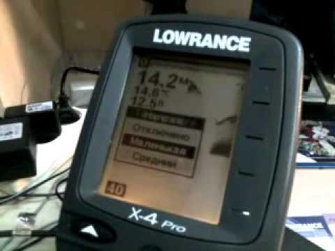 эхолот lowrance x4 видео инструкция