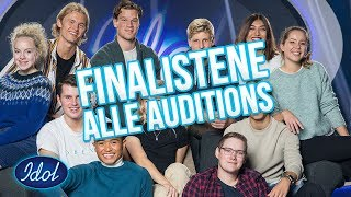 Finalistene - Alle Auditions (TOPP 11) | Idol Norge 2018