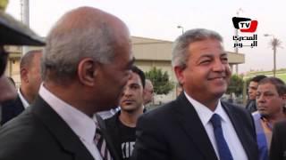 خالد عبد العزيز يفتتح الصالة المغطاة باستاد بنها