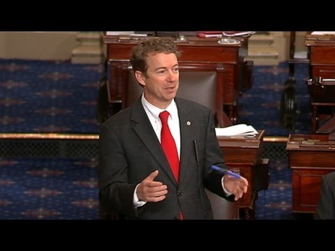 Rand Paul Filibusters American Drone Policy